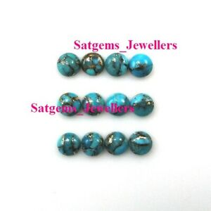 20x20 mm Round Cabochon Natural Gemstone Amazing Blue Copper Turquoise 3x3 mm