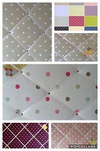 Custom Handmade Pin Memo Notice Photo Cork Board Crushed Velvet Fabric 36 Colour