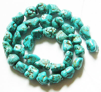 """Turquoise Free Form Nuggets Chips S M L Natural Gemstone Loose Beads 16"""" Strand"""