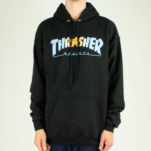 Black in size M,L,XL Thrasher Argentina Pullover Hoodie Hooded Sweatshirt