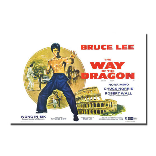 Way Of The Dragon Bruce Lee Movie Silk Canvas Poster 12x18 24x36inch 1972