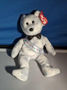 TY Beanie Baby 2008 Happy New Year Bear rare & retired