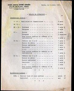 PARIS-XV-USINE-AUTOMOBILE-CITROEN-034-PANHARD-034-Delais-de-LIVRAISON-en-1957