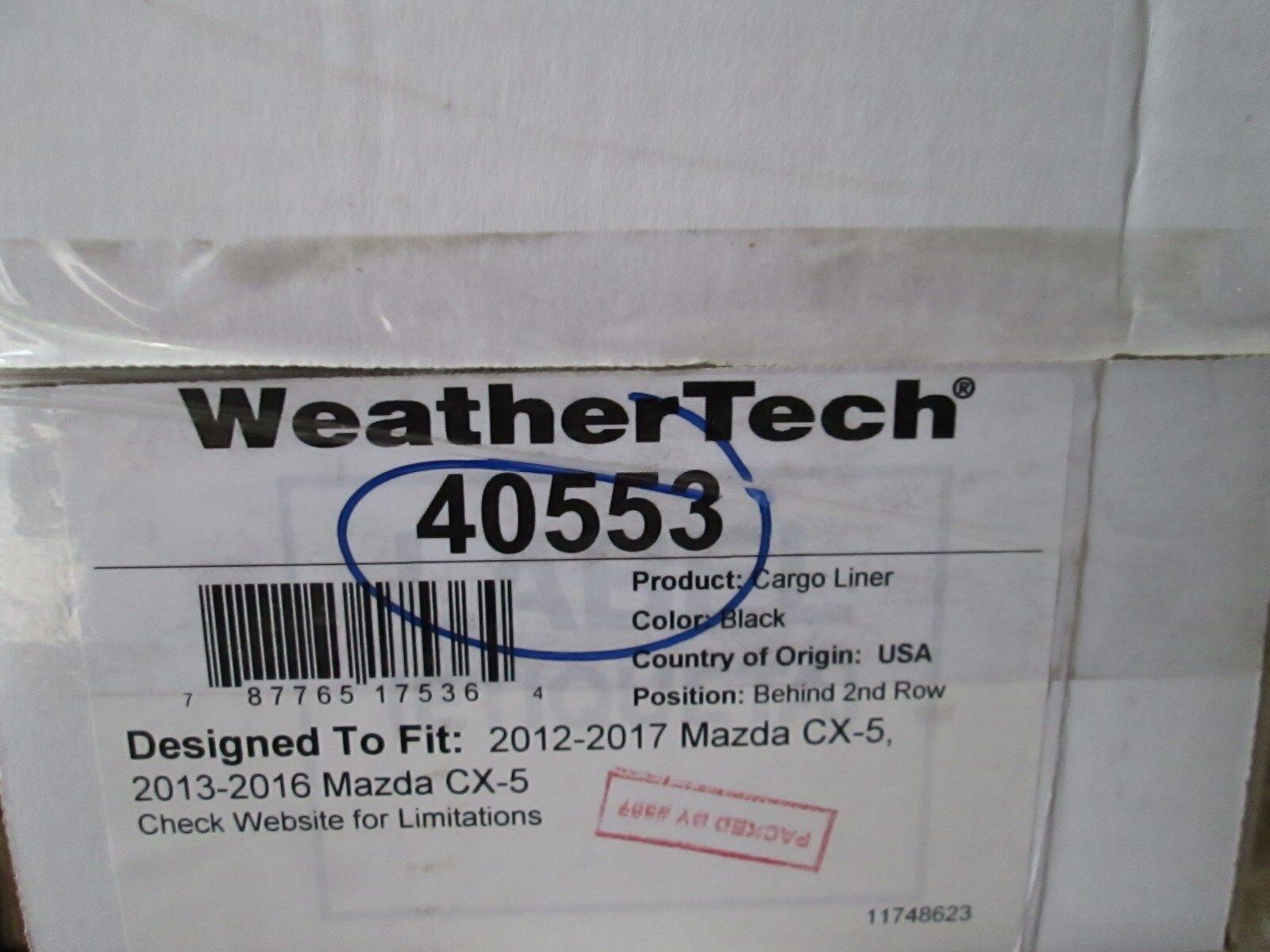 Weathertech 40553 Cargo Liner