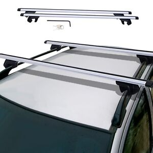 48 Universal Car Wagon Aluminum Roof Top Rail Rack Cross Bars Luggage Carrier