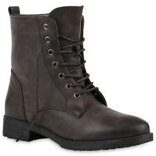 Derbe Damen Herren Stiefeletten Worker Boots Schnürstiefel 816848 New Look