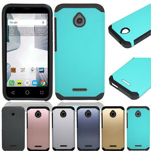 online retailer 79e1b f4c4f Details about For Alcatel One Touch PIXI Avion LTE Hybrid Armor Shockproof  Rubber Case Cover