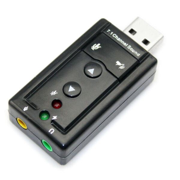 Actief External Usb 2.0 7.1 Channel 3d Virtual Audio Sound Card Adapter - Black Comfortabel En Gemakkelijk Te Dragen