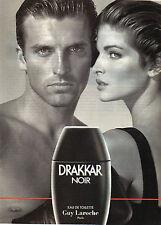 Publicité Advertising 1996  Parfum  DRAKKAR NOIR eau de toilette GUY LAROCHE ...