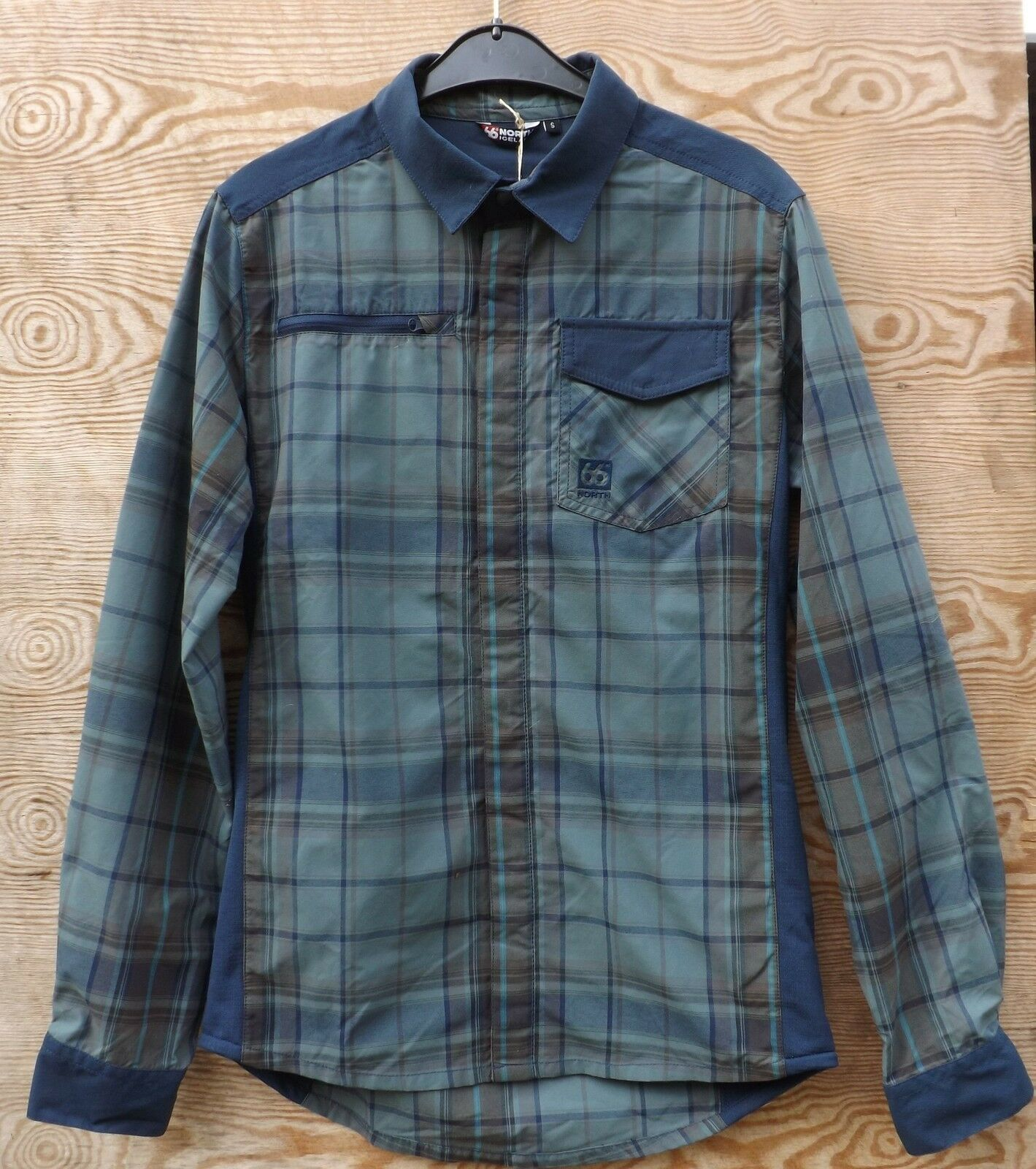 66  North Function Shirt Reykjavik Shirt, Men's Long Sleeve with Stretch Inserts
