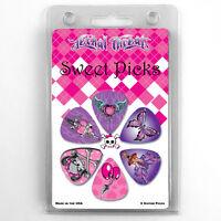 Hot Picks 6 Pack Sweet Picks Guitar Picks .88 Gauge Set Fairies Butterflies