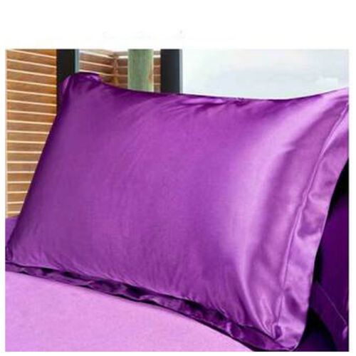 Silk Satin Seidenbettwäsche Seiden Kopfkissenbezug Kissenhülle Pillow Cover P//D