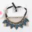 Chic-Bib-Collar-Choker-Chunky-Rhineston-Crystal-Chain-Pendant-Statement-Necklace thumbnail 4