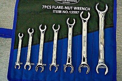 Bremsleitungsschlüssel offener Ringschlüssel Satz 6-tlg Leitungsschlüssel 8-18mm