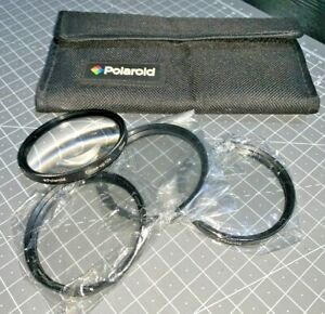 Polaroid 55mm Close-up +1, +2, +4 and +10 filters, with case, Japan-made