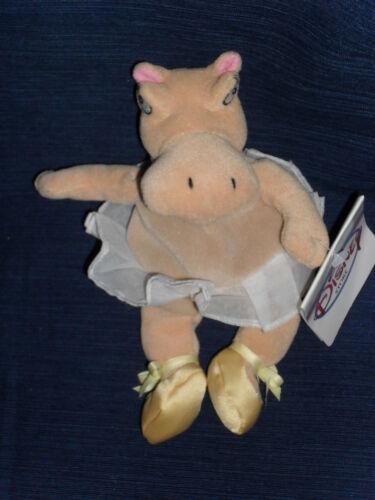 """! NWT 8/"""" Disney Store beanbag plush BALLERINA HIPPO FANTASIA w//Tag NEW"""