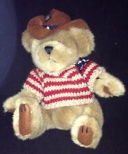 Brass Button Bear Cody Pickford Bears Cowboy Bear Red White Blue Sweater