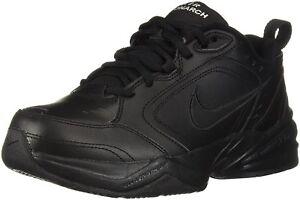 pretty nice 7eef3 360ac Image is loading Nike-Air-Monarch-IV-Wide-4E-Black-Black-
