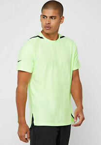 Details about Nike Dri FIT Tech Pack Men's Short Sleeve Training L Volt Green Running Gym New