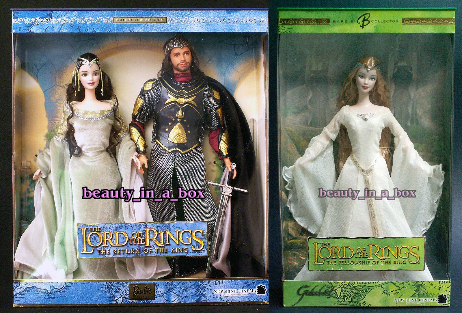 Muñeca Barbie Arwen Y Aragorn Señor De Los Anillos Galadriel Ken Lote 2 juntos