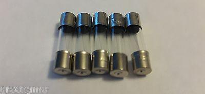 250 V 5x20mm 0.5-15Amp Options-GRATUIT UK p/&p Slow Blow Verre Fusible 10 Pack
