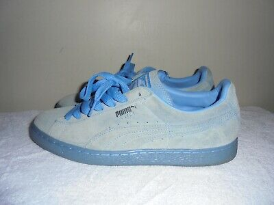 mens PUMA Suede light blue shoes size 9