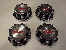 "2000 - 2010 GMC Sierra Yukon  2500 8 Lug 16"" Aluminum Wheels Center Caps Set"