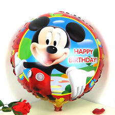 """18"""" Mickey Mouse Happy Birthday round foil balloon 45cm red border"""