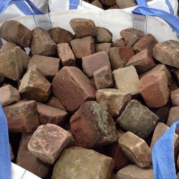 0,5 Qm Adoquines Buntsandsteine Envolvente Remolacha la Piedra Natural Borde Del