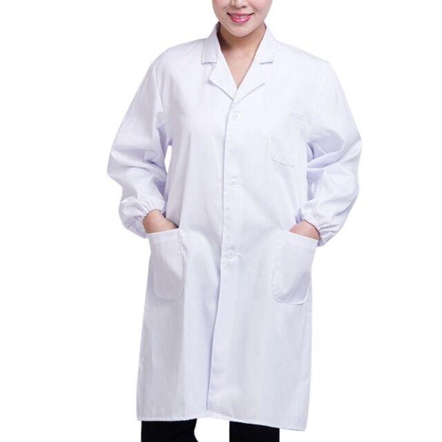 Doctor Long White Coats Lab Cosplay Men Women Medical Uniform Hospital Nurse Lot