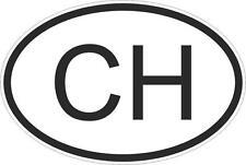 Adesivo adesivi sticker codice auto moto ritagliato nazioni ovale svizzera