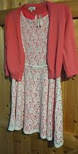 """Gorgeous Girl's Party Dress Teenage to Size Ladies 8-10 Pink & White  Chest 34"""""""