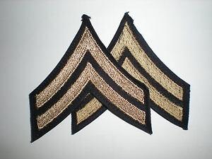 US-ARMY-WWII-CORPORAL-RANK-STRIPES-ORIGINAL-ON-TWILL-1-PAIR