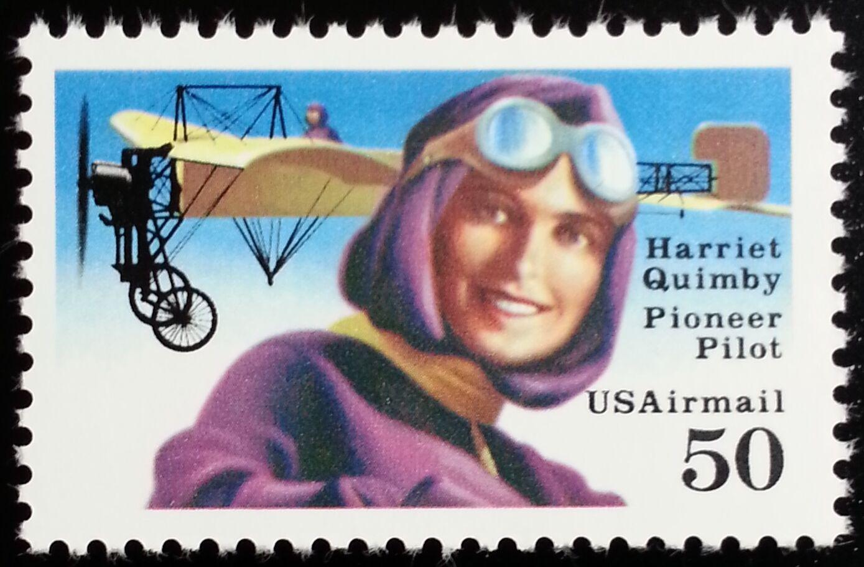 1993 50c Harriet Quimby, Pioneer Pilot Scott C128b Mint