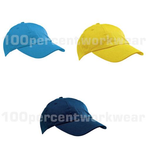 Kids Childrens Childs Boys Girls Baseball Cap Hat Peak 100/% Cotton School Sport