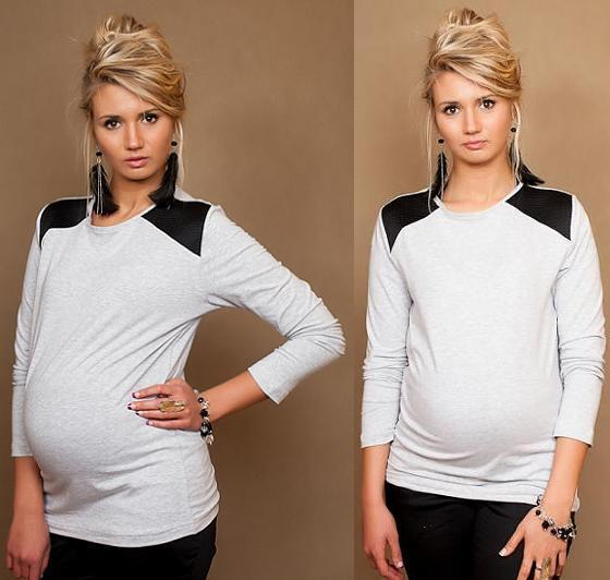 Maternity Pregnancy Top Blouse Long Sleeve One size S/M/L  UK size 8/10/12