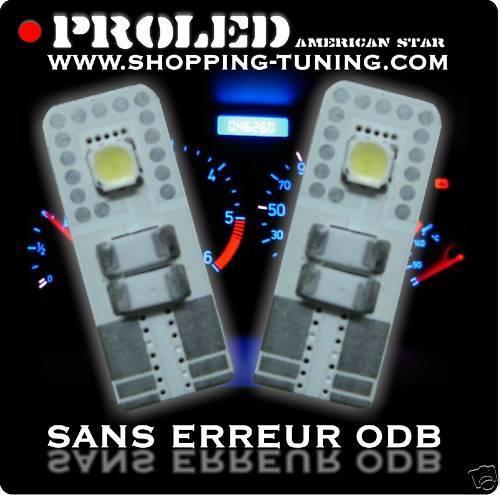 2 VEILLEUSE LED SMD W5W ANTI ERREUR FIAT GRANDE PUNTO