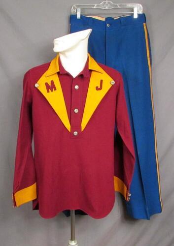 Vintage 1930s Firefighters Wool Dress Uniform Shir