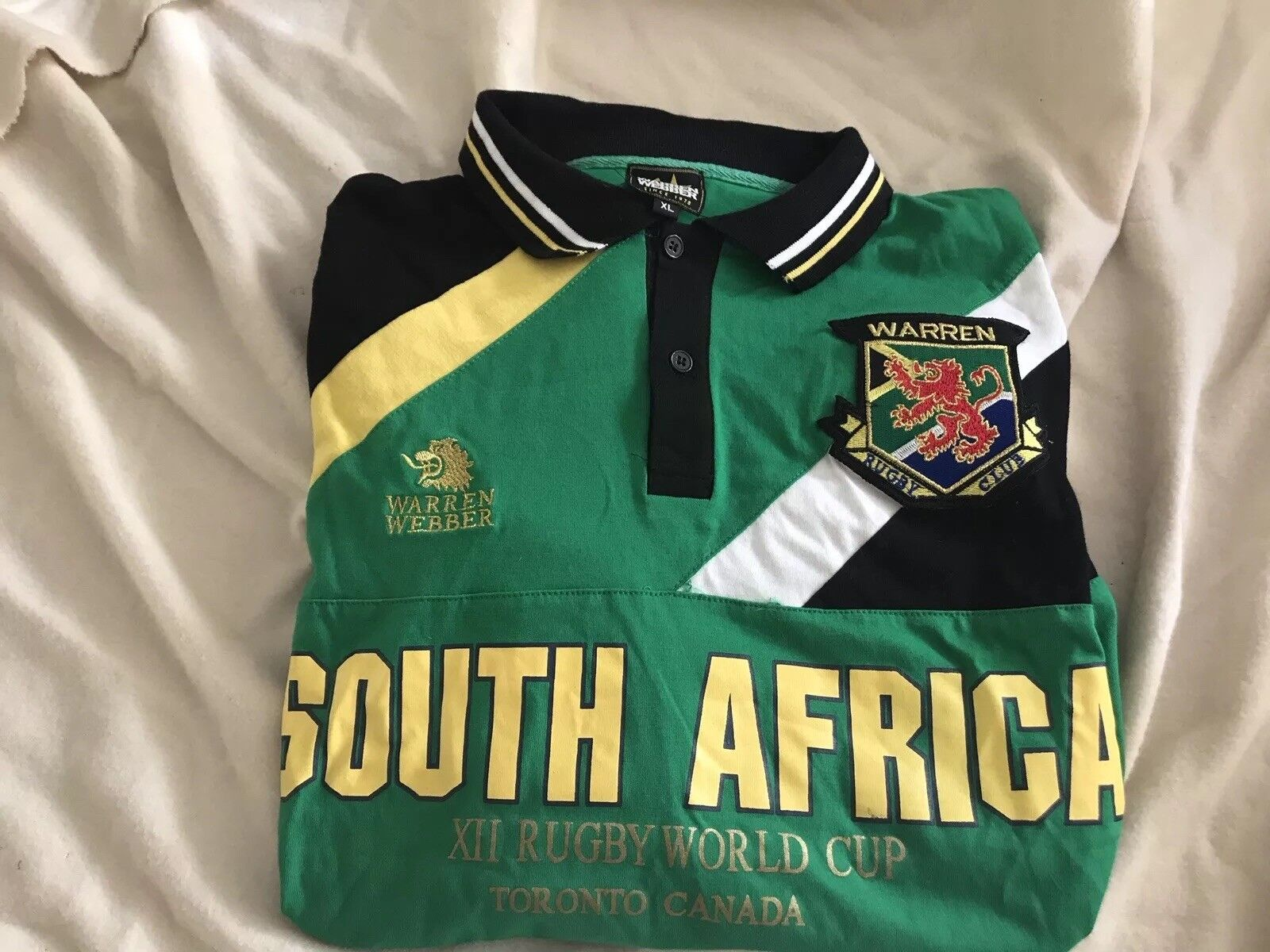 Warren Webber XII Rugby World Cup South Africa Polo