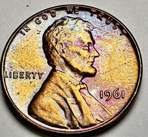 1 BU UNC roll 1963-D Lincoln Memorial Penny Beautiful color Nicely toned