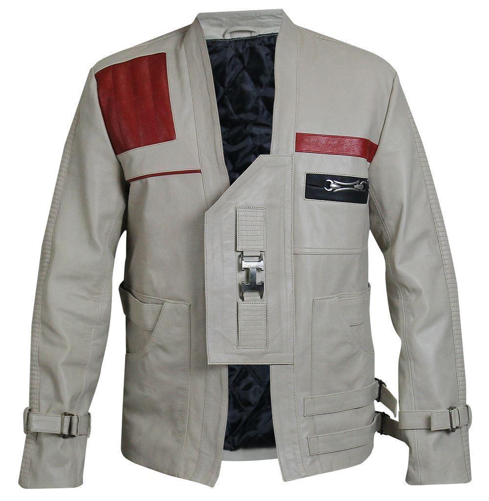 Herren John Boyega Finn Star Wars Leder Celebrity Designer Lederjacke Kostüm
