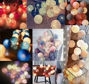 3M-20-LED-Cotton-Ball-LED-String-Christmas-Wedding-Party-Fairy-Lights
