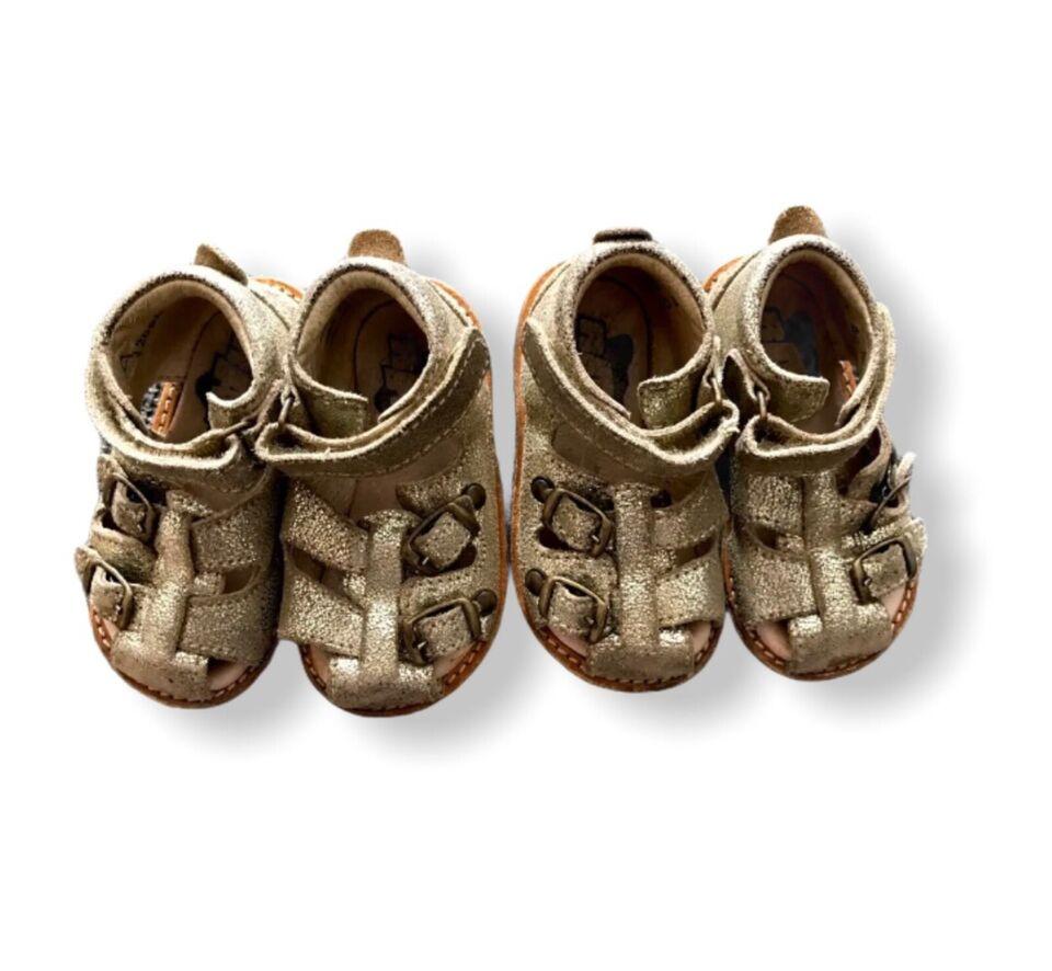 Sandaler, str. 20, Rap sandaler sko guld 20
