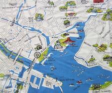 Passport Tokyo City Map Japan Landmarks Multi 3 Sisters Moda Cotton Fabric Yard