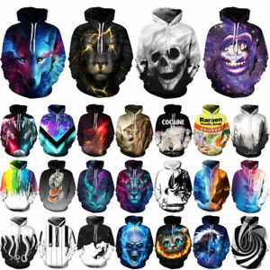 Men-Women-039-s-Hoodie-3D-Print-Sweater-Sweatshirt-Jacket-Coat-Pullover-Graphic-Tops