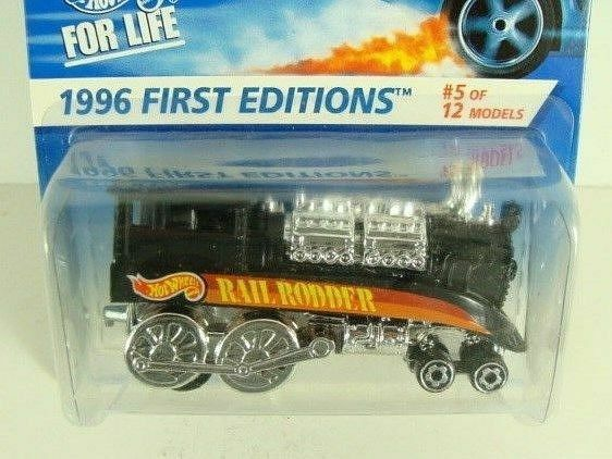 HOT WHEELS 1996 1st Editions TRAIN ENGINE rail Rodder