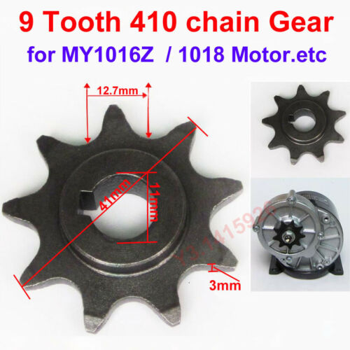 Electric Scooter Engine Motor Part Motor Pinion 9Tooth Chain Gear MY1016Z Sprock