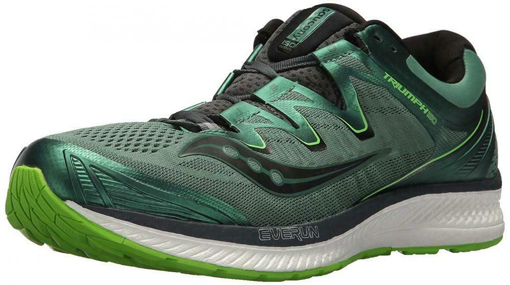 Saucony Men's Triumph ISO 4 Running zapatos verde negro 8 Medium US