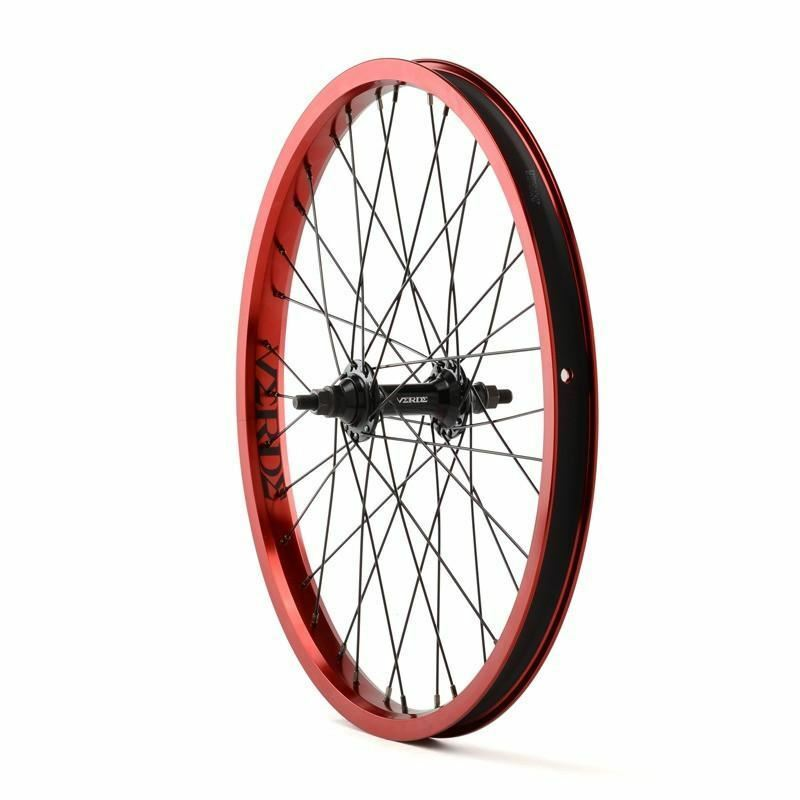 green Regent Front Wheel Red 20