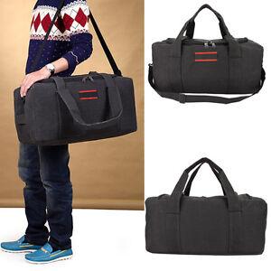 Men-039-s-Canvas-Gym-Duffle-Shoulder-Bag-Tote-Travel-Carry-on-Luggage-Handbag-22-034-US